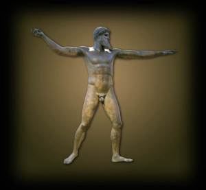 Zeus doing yoga