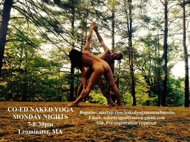 Co-Ed Naked Yoga Postcard