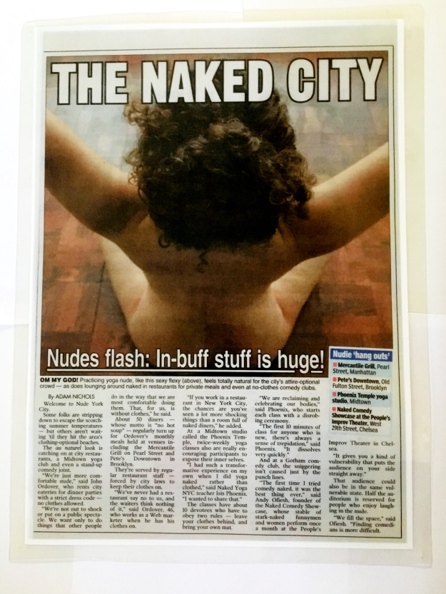 Naked Yoga NYC New York Post 2