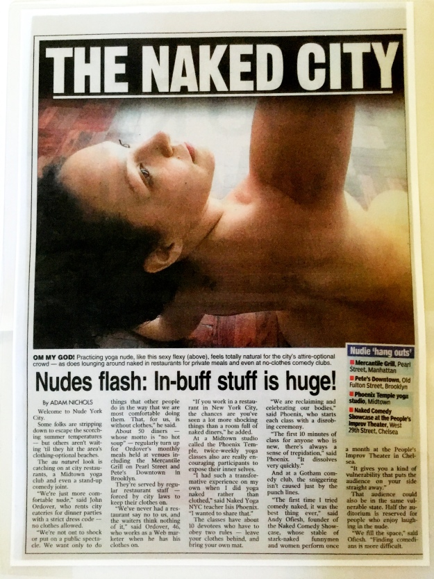 Naked Yoga NYC New York Post